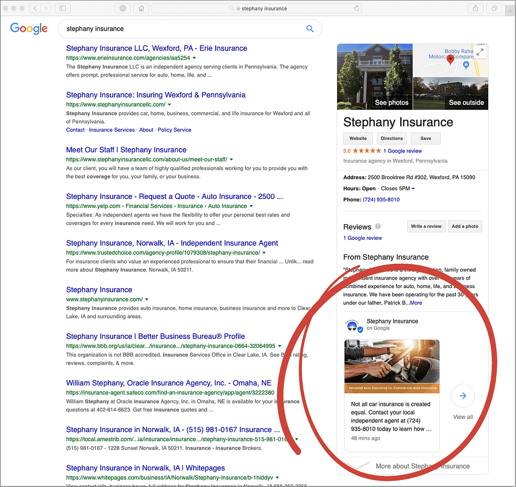 agency google my business