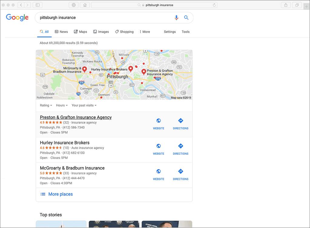 Google local ranking