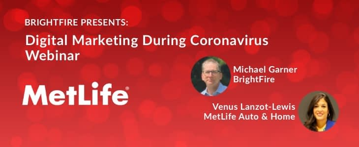 MetLife digital marketing Coronavirus