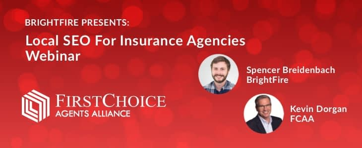 Local SEO for Insurance Agencies Webinar with FCAA