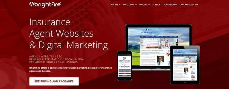 insurance agency websites