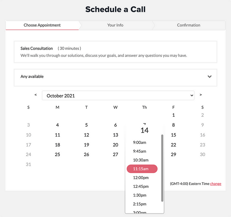 Schedule a call with sale team.